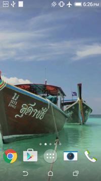 Thai boats live wallpaper apk screenshot