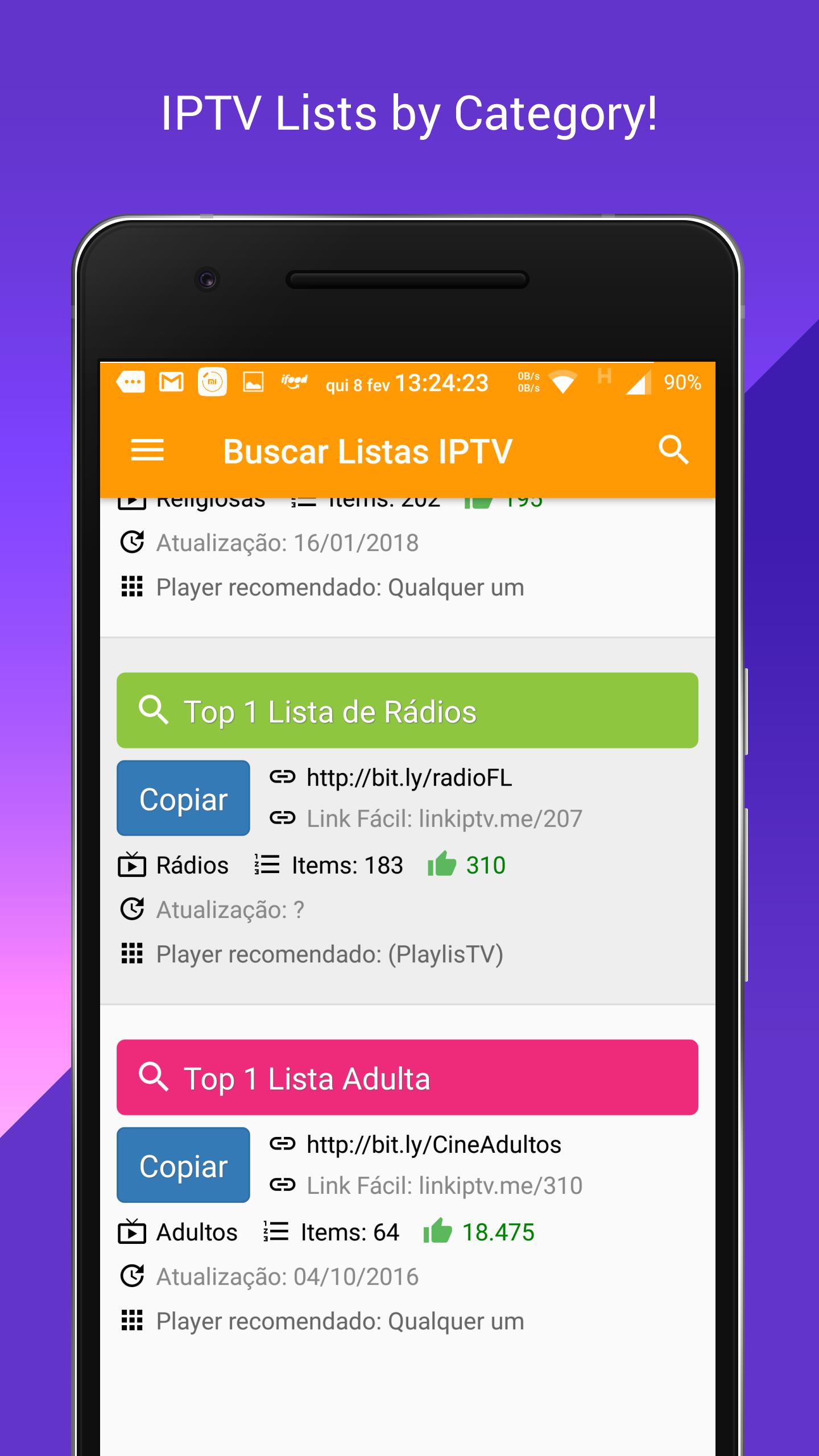Search Free IPTV Lists 🔍 for Android - APK Download