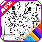 The Book Coloring Pages for Koala Bro by Fans icon