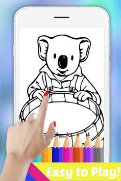 The Book Coloring Pages for Koala Bro by Fans screenshot 2