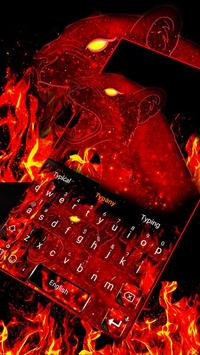 Typany Red Flash Leopard Keyboard poster