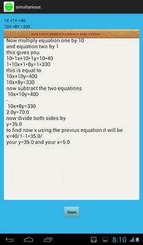 Simultaneous Solver screenshot 3