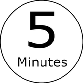 THE 5 MINUTES BUTTON (5 Minutes Timer Widget) icon