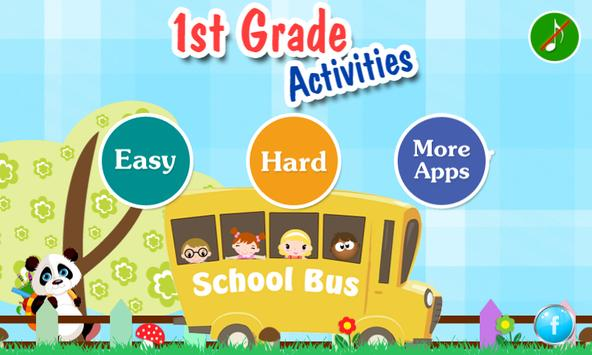 1st Grade Activities poster