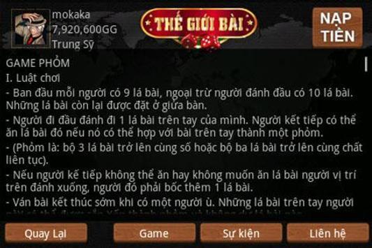TheGioiBai (Thế Giới Bài) screenshot 3