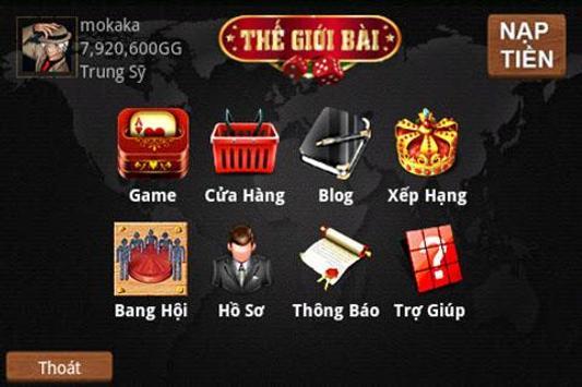 TheGioiBai (Thế Giới Bài) screenshot 1