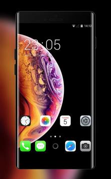 Theme for IPhone XS IOS12 planet concept machine poster