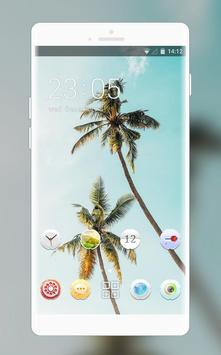 Theme for summer coconut tree wallpaper poster