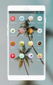 Theme for summer coconut tree wallpaper screenshot 1