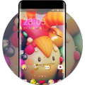 Colorful theme cute monster character 3d wallpaper
