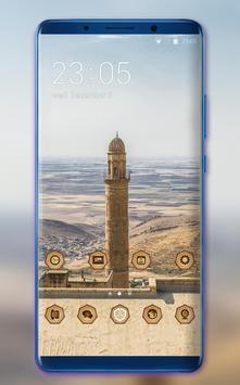 Theme for tower build desert MI Band 3 wallpaper poster