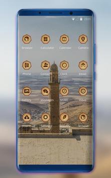 Theme for tower build desert MI Band 3 wallpaper screenshot 1