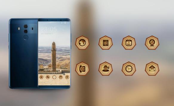Theme for tower build desert MI Band 3 wallpaper screenshot 3
