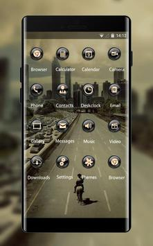 Landscape theme ab34 wallpaper walking dead city screenshot 1