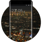 Night view theme los angeles city wallpaper icon