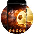 Cool Flame Ball Theme: Fire Wallpaper icons