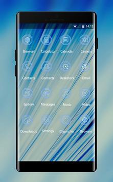 Abstract Blue Theme screenshot 1