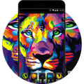 Neon Color Lion: Neat Theme for Galaxy S8 HD