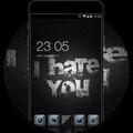 Cool Dark Black Theme: Font & Text Wallpaper HD