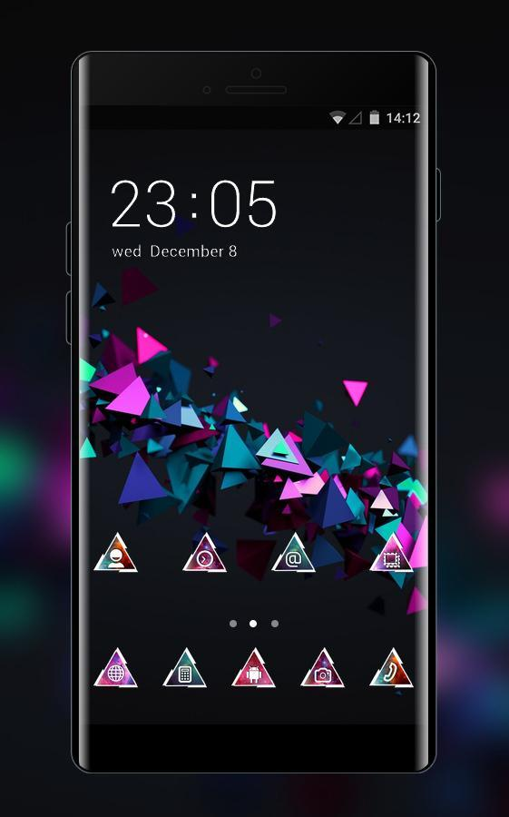3d Cube Launcher Theme Cool Tech Wallpaper Hd For Android