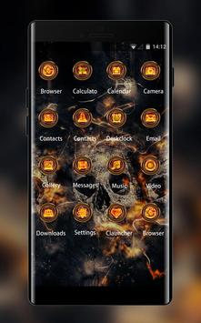 Theme for Vivo V5/V5 plus: Fire Skull HD Wallpaper screenshot 1
