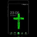 Green Cross Cool  Tech Theme: Dark Neon Green