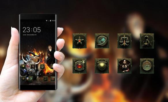 War theme weapon skul demon bone apk screenshot