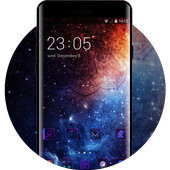 Galaxy live Wallpaper&Purple Style Theme for Oppo icon