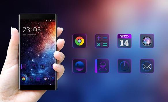 Galaxy live Wallpaper&Purple Style Theme for Oppo screenshot 3