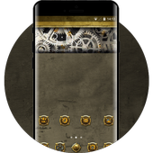 Cool theme steampunk, mechanical abstract, art, icon
