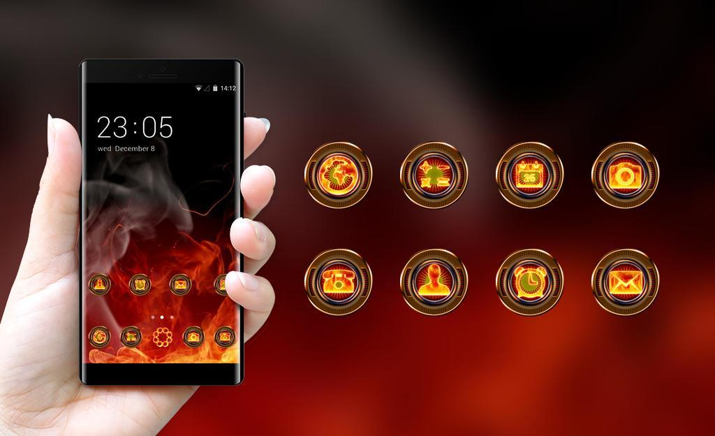 Cool Theme Fire Background Wallpaper For Android Apk Download