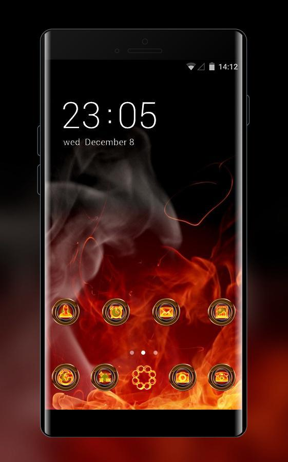 Cool Theme Fire Background Wallpaper For Android Apk