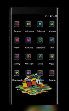 Cool theme rubiks cube colorful melting wallpaper screenshot 1