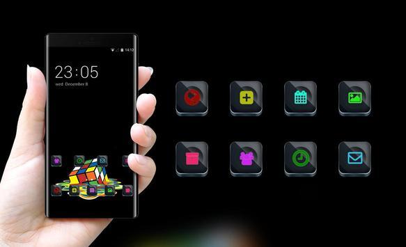 Cool theme rubiks cube colorful melting wallpaper screenshot 3