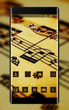 Cool theme wallpaper sheet music drawing macro poster