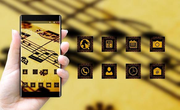 Cool theme wallpaper sheet music drawing macro apk screenshot