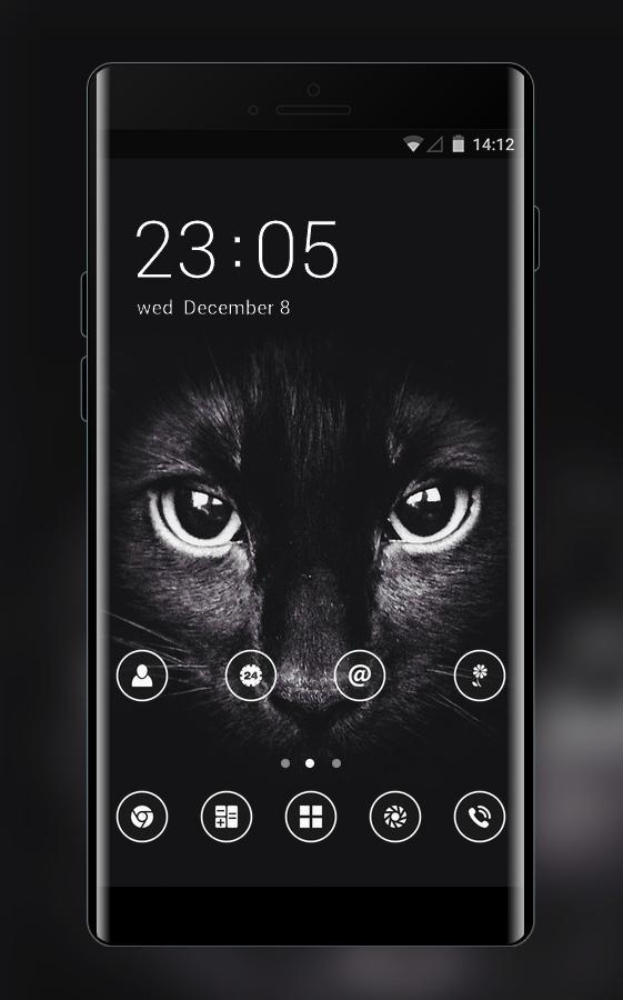 Animal Theme Black Cat Wallpaper For Android Apk Download