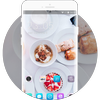 Theme for food cake white life asus zenfone max icon