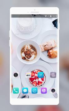 Theme for food cake white life asus zenfone max poster