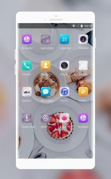 Theme for food cake white life asus zenfone max screenshot 1