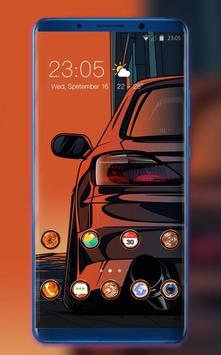 Theme for car abstract hand draw wallpaper poster