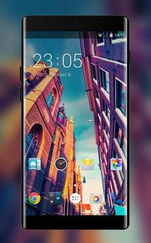 City Theme: Romantic Sunset Wallpaper & Icons HD poster