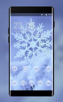 Snow winter theme for Mi A1 snowflake wallpaper poster