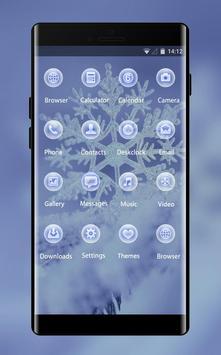 Snow winter theme for Mi A1 snowflake wallpaper screenshot 1