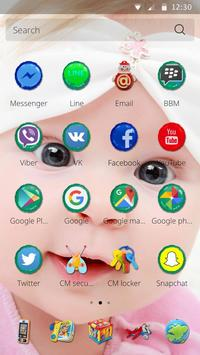 Cute Baby Theme apk screenshot