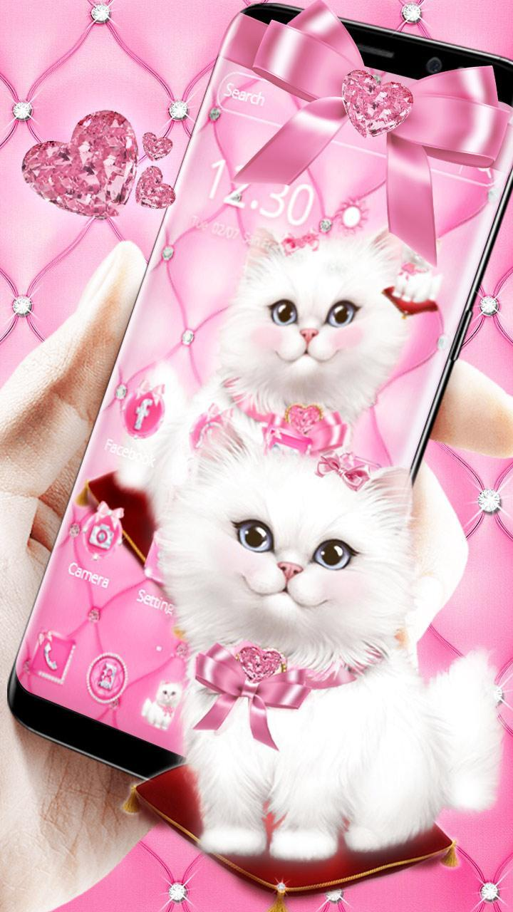 Cute Pink Kitty Theme Wallpaper For Android Apk Download