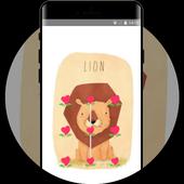 Cute theme hand drawn icon