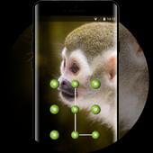 Cute theme squirrel monkey space interstellar icon