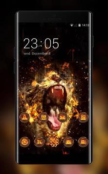 Fire Roaring Lion poster
