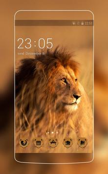 Animal Theme: Lion HD Live Wallpaper for Huawei poster